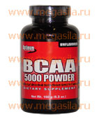 Аминокислоты ВСАА Optimum Nutrition BCAA 5000 Powder - L-валин, L-лейцин и L-изолейцин в соотношении 2:1:1, продукт содержит лецитин, полученный из соевых бобов.